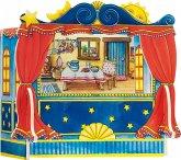 Goki 51786 - Fingerpuppentheater, 5 austauschbare Kulissen