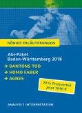 Abi-Paket Baden-Württemberg 2018: Dantons Tod / Homo faber / Agnes, 3 Bde.