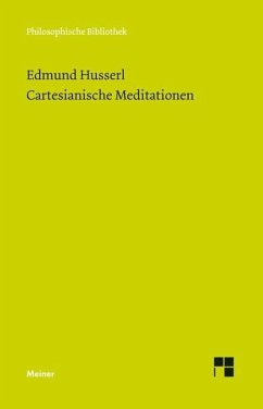 Cartesianische Meditationen - Husserl, Edmund