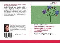 Reducción de sólidos en suspensión en agua residual proceso anaerobio