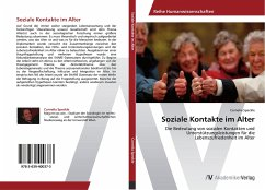 9783639400373 - Speckle, Cornelia: Soziale Kontakte im Alter - Buch