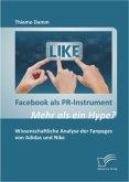 Facebook als PR-Instrument: Mehr als ein Hype?