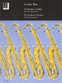 20 Modern Studies, für Saxophon solo (S/A/T/Bar)