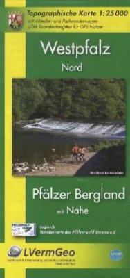 Topographische Karte Rheinland-Pfalz Westpfalz ...