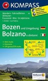 KOMPASS Wanderkarte Bozen und Umgebung / Bolzano e dintorni