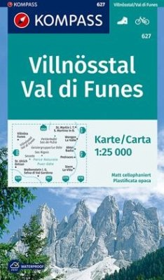 KOMPASS Wanderkarte Villnösstal, Val di Funes