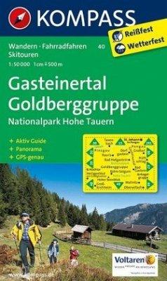 KOMPASS Wanderkarte Gasteinertal - Goldberggruppe - Nationalpark Hohe Tauern