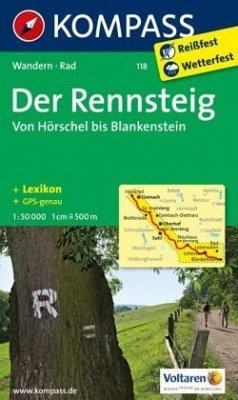 KOMPASS Wanderkarte Der Rennsteig - Von Hörschel bis Blankenstein