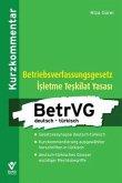 Betriebsverfassungsgesetz deutsch - türkisch