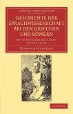 Geschichte Der Sprachwissenschaft Bei Den Griechen Und Romern