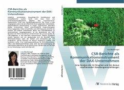 9783639425079 - Blankenagel, Lina: CSR-Berichte als Kommunikationsinstrument der DAX-Unternehmen - Buch
