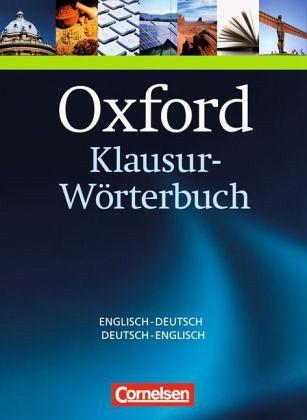 Oxford klausur w rterbuch deutsch englisch englisch for Ubersetzung englisch auf deutsch