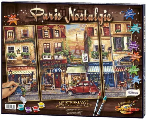 Paris Nostalgie Meisterklasse Triptychon Malen Nach Zahlen Mal Sets