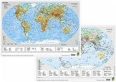 Die Erde physisch / politisch, DUO-Schreibunterlage klein