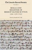 The Rolls and Register of Bishop Oliver Sutton, 1280-1299: Volume VII