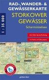 Rad-, Wander- und Gewässerkarte Storkower Gewässer, Scharmützelsee