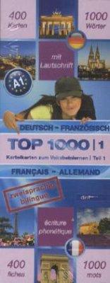 Top 1000 Französisch Niveau A1, Karteikarten m. Lernbox