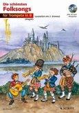 Die schönsten Folksongs, für 1-2 Trompeten, m. Audio-CD