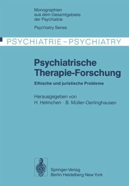 Psychiatrische therapie forschung fachbuch for Hanfried helmchen