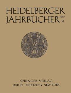Heidelberger Jahrbücher - Universitäts-Gesellschaft Heidelberg