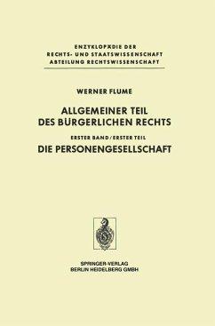 Allgemeiner Teil des Bürgerlichen Rechts - Flume, Werner