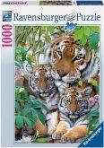 Ravensburger 19117 - Tigerfamilie, Puzzle, 1000 Teile