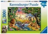 Ravensburger 13073 - Abendsonne am Wasserloch, Puzzle, 300 Teile