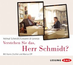 Verstehen Sie das, Herr Schmidt?, 3 Audio-CDs - Schmidt, Helmut; Di Lorenzo, Giovanni
