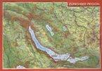 Reliefpostkarte Region Zürichsee