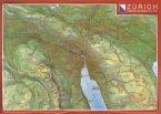 Reliefpostkarte Zürich