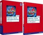 Value Pack: Optionen, Futures und andere Derivate, Lehrbuch + Übungsbuch, 2 Bde.