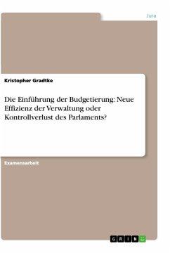 Die Einführung der Budgetierung: Neue Effizienz der Verwaltung oder Kontrollverlust des Parlaments?