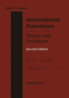 Generalized Functions Theory and Technique - Kanwal, Ram P.