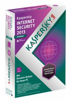 Kaspersky Internet Security 2013 - 3 Lizenzen Upgrade (DVD-Box)