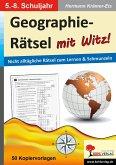 Geographie-Rätsel mit Witz! - 5.-8. Schuljahr