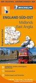 Michelin Karte England Süd-Ost, Midlands, East Anglia; South East England, Midlands, East Anglia