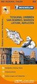 Michelin Karte Toskana, Umbrien, San Marino, Marken, Latium, Abruzzen; Italie Centre