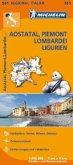 Michelin Karte Aostatal, Piemont, Lombardei, Ligurien; Italie Nord-Ouest