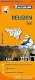 Michelin Karte Belgien Süd; Belgique Sud