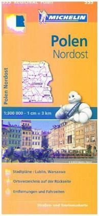 Pologne Nord-Ouest. 1/300 000 - Michelin