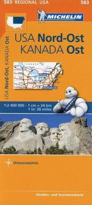 Michelin Karte USA Nord-Ost, Kanada Ost; Northeastern USA, Eastern Canada
