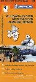 Michelin Karte Schleswig-Holstein, Niedersachsen, Hamburg, Bremen; Allemagne Nord-Ouest