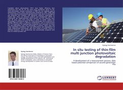 In situ testing of thin-film multi junction photovoltaic degradation