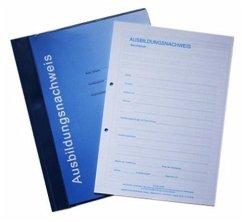 Ausbildungsnachweisblock - gewerbliche Ausbildung, für drei Jahre, 3 Blöcke und stabiler Sammelhefter