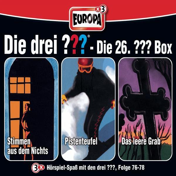 die drei fragezeichen folgen 76 78 die drei fragezeichen box 26 3 audio cds von alfred. Black Bedroom Furniture Sets. Home Design Ideas