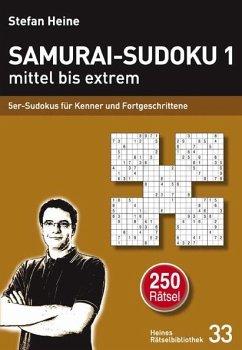 Samurai-Sudoku 1 mittel bis extrem