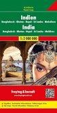 Freytag & Berndt Autokarte Indien, Bangladesch, Bhutan, Nepal, Sri Lanka, Malediven; India / Inde