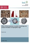Effect of fluid dynamics on pellet morphology and product formation of