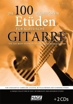 Die 100 wichtigsten Etüden für klassische Gitarre, m. 2 Audio-CDs - Weijie, Jiang