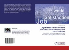 Organization Determinant Variables:Effectiveness and Sustainability
